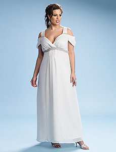 Celine Chiffon Wedding Dress by Kiyonna