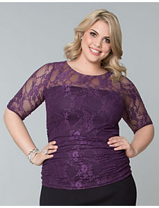 Smitten Lace Top by Kiyonna