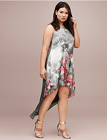 Lane Collection floral high low dress