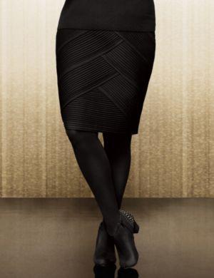 Lane Collection diagonal ponte skirt