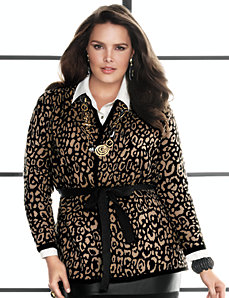 Animal print cardigan by Lane Bryant