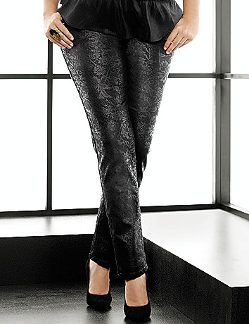 Lace print skinny jean by Lane Bryant