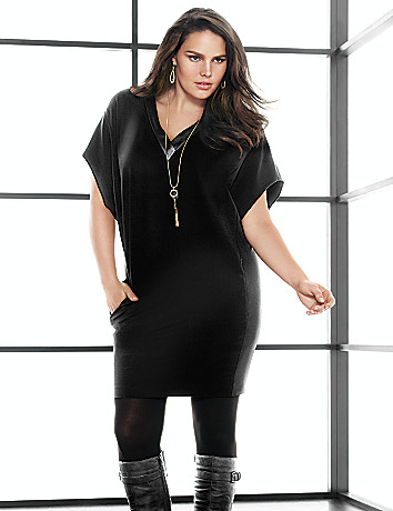 Ponte wedge dress by Lane Bryant