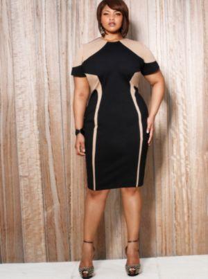 Alana Colorblock Illusion Dress