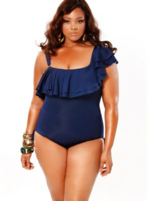 'Espana' Ruffle Swimsuit with Detachable Strap