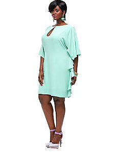 Indiana Ruffle Shift Dress - Mint by Monif C.