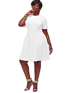 Janel Colorblock Tennis Dress - White by Monif C.