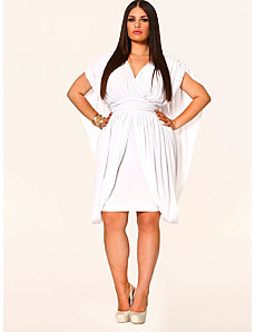 June Grecian Draped Dress - White by Monif C.