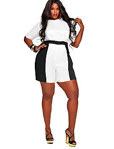 Kasia Colorblock Romper - Off White by Monif C.