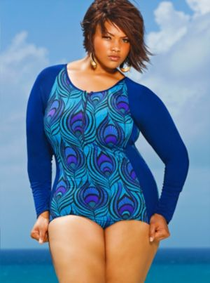 Malibu Surfer Swimsuit - Turquoise Multi
