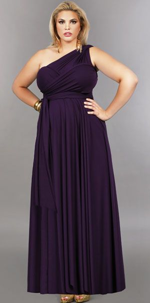 'Marilyn' Long Convertible Dress - Purple