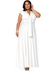 'Marilyn' Long Convertible Dress - White by Monif C.