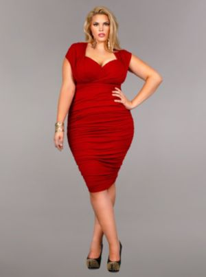 'Marilyn' Ruched Convertible Dress - Red