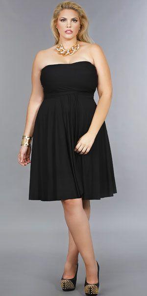 'Marilyn' Short Convertible Dress 20 - Black