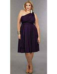 'Marilyn' Short Convertible Dress - Purple by Monif C.