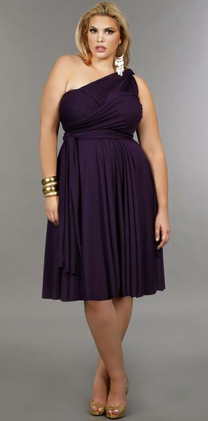 'Marilyn' Short Convertible Dress - Purple
