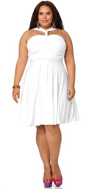 'Marilyn' Short Convertible Dress - White