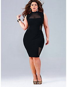 Marla Mesh Insert Dress - Black by Monif C.