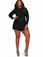 Marta' Crochet Lace Romper - Black