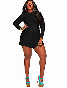 Marta' Crochet Lace Romper - Black by Monif C.