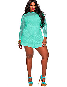 Marta' Crochet Lace Romper - Mint by Monif C.