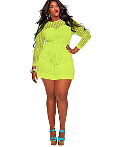Marta' Crochet Lace Romper - Yellow by Monif C.