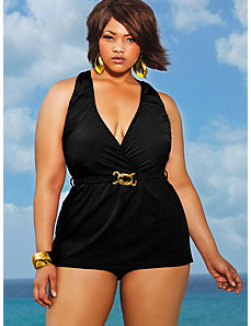 Mozambique Halter Swim Dress - Black by Monif C.