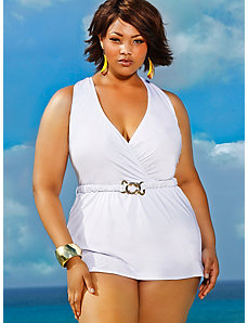 Mozambique Halter Swim Dress - White by Monif C.