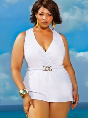 Mozambique Halter Swim Dress - White