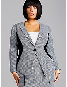 Nadine Houndstooth Blazer by Monif C.