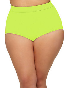 Sao Paulo High-Waisted Bikini Brief - Neon Yellow by Monif C.