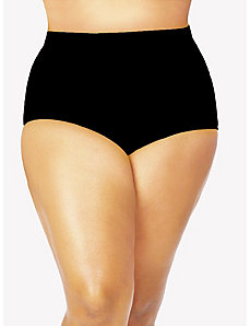 Sao Paulo High-Waisted Black Bikini Brief by Monif C.