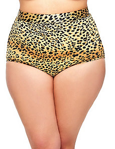 Sao Paulo High-Waisted Leopard Bikini Brief by Monif C.