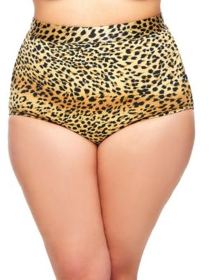 Sao Paulo High-Waisted Leopard Bikini Brief
