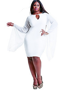 Simone Chiffon Sleeve Party Dress -White by Monif C.
