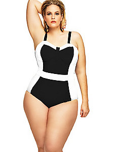 St. Vincent Colorblock Swimsuit w/ Underwire by Monif C.