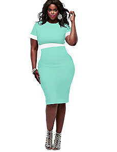 Thia Colorblock Dress - Mint by Monif C.