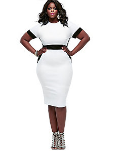 Thia Colorblock Dress - White by Monif C.
