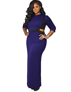 Tracy' Cutout Maxi Dress - Purple by Monif C.