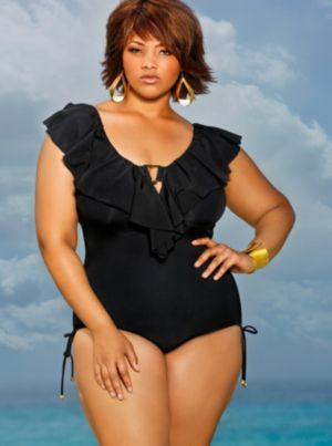 Trinidad Ruffle Swimsuit - Black
