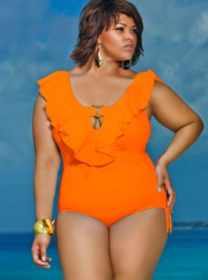 Trinidad Ruffle Swimsuit - Burnt Orange