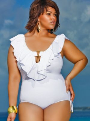 Trinidad Ruffle Swimsuit - White