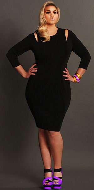 'Whitley' Cut Out Shoulder Dress- Black