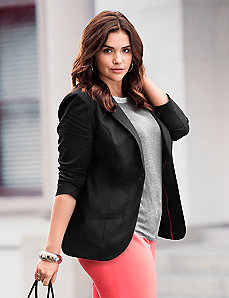 Double weave suit jacket