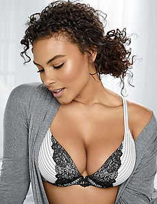 Smooth boost plunge bra with lace