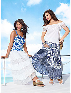 Sleeveless Tops & Maxi Skirts Ensembles