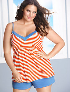 Striped cami & short PJ set