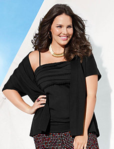 Smocked back over piece by Lane Bryant