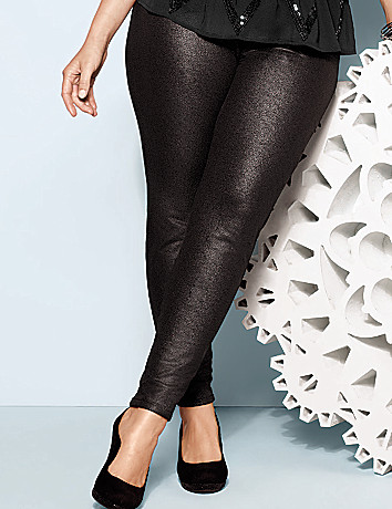 Shimmering French terry jegging by Lane Bryant