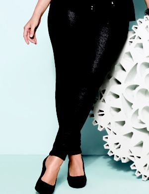 Gunmetal coated French terry jegging
